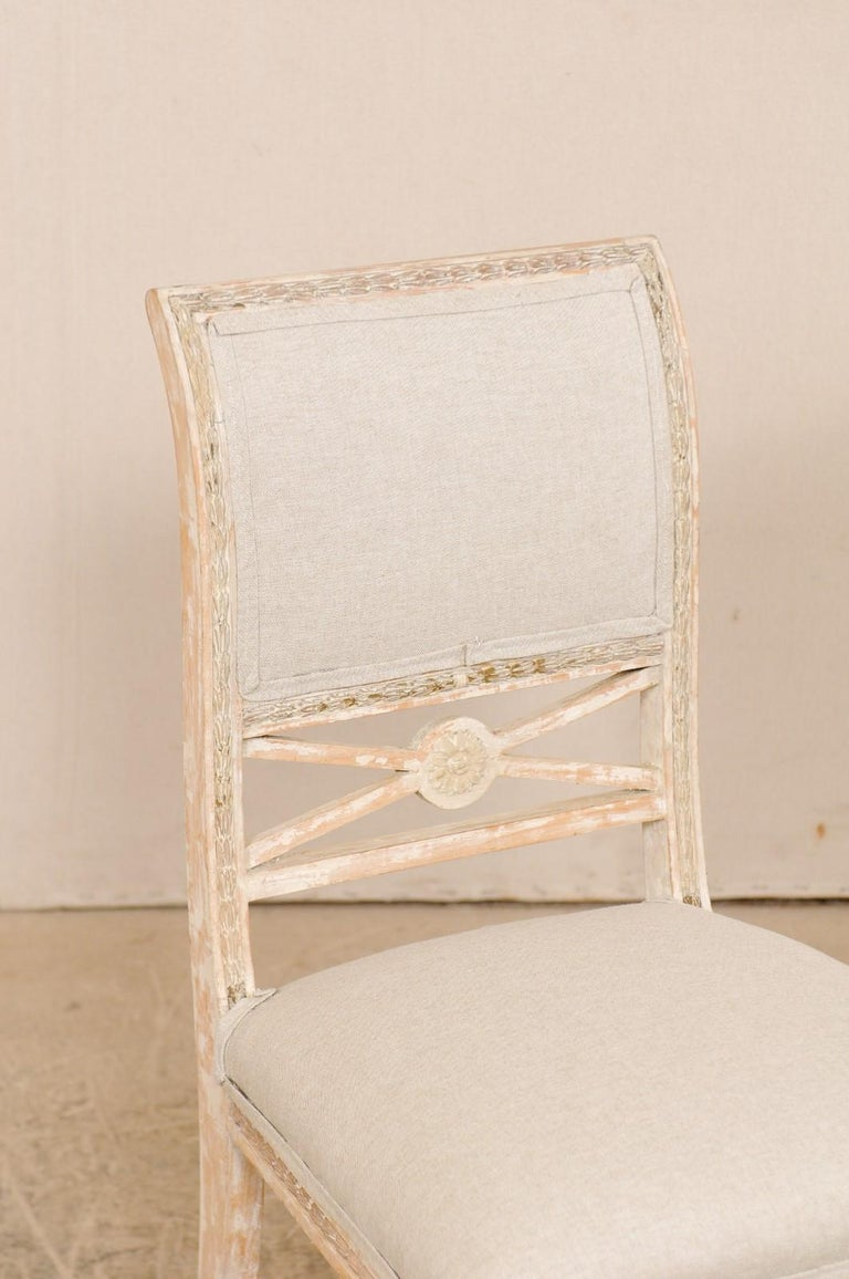 Upholstery 19th Century Single Swedish Gustavian Bellman Chair For Sale