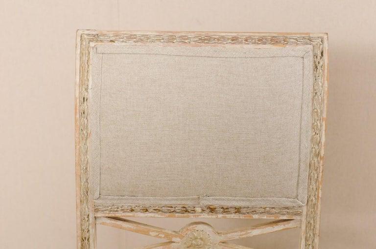 19th Century Single Swedish Gustavian Bellman Chair For Sale 2