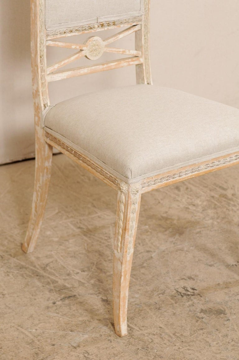 19th Century Single Swedish Gustavian Bellman Chair For Sale 3