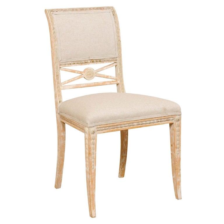 19th Century Single Swedish Gustavian Bellman Chair For Sale