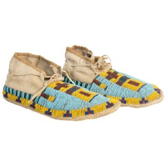 19th Century Sioux Beaded Moccasins