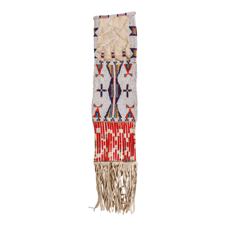 American 19th Century Sioux Beaded Pipe Bag For Sale