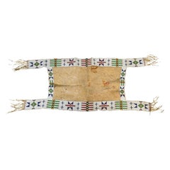 19th Century Sioux Beaded Saddle Blanket