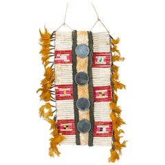 19th Century Sioux Quilled Breastplate