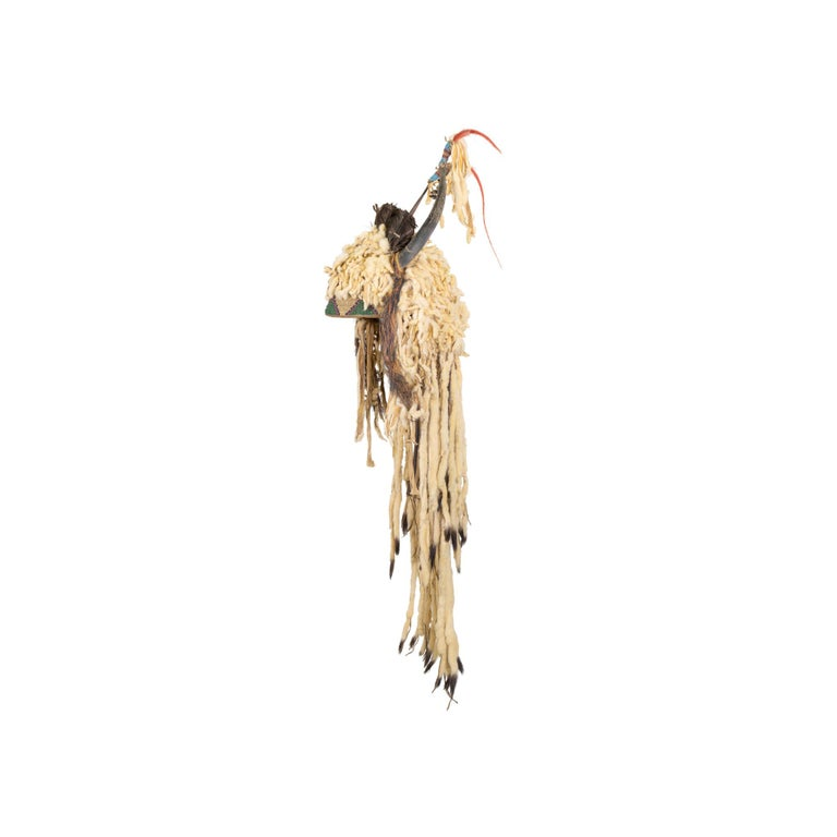 Native American 19th Century Sioux Split Horn Headdress For Sale