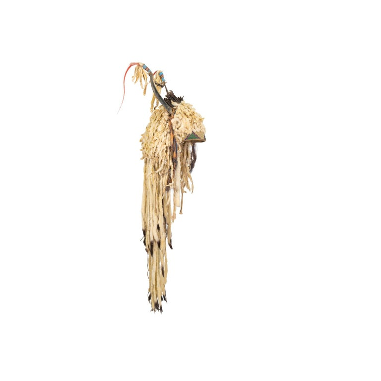 19th Century Sioux Split Horn Headdress In Good Condition For Sale In Coeur d'Alene, ID