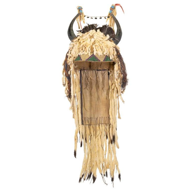 19th Century Sioux Split Horn Headdress For Sale