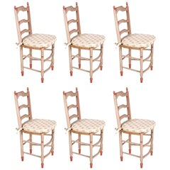 19th Century Six French Dining Chairs in Provincial Style