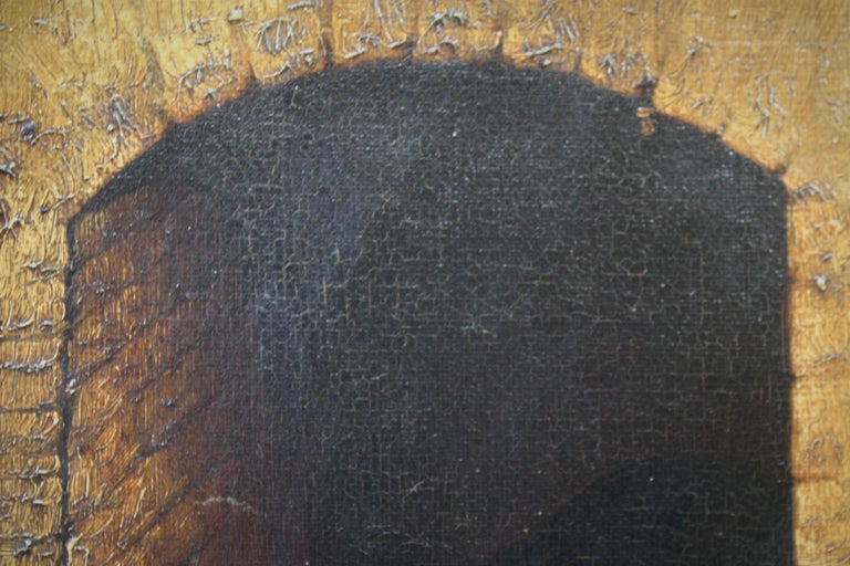 19th Century Slumbering Pooch Oil on Canvas 1907 Manner of Edwin Landseer For Sale 2