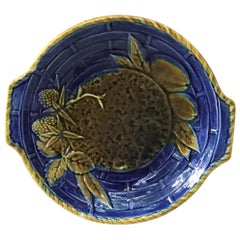 19th Century Small Majolica Platter Wedgwood