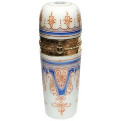 19th Century Small Porcelain Scent Perfume Bottle