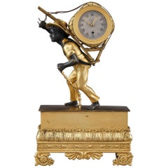19th Century Small Restauration Clock Peddler