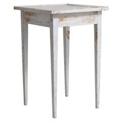 19th Century Small Swedish White Gustavian Side Table