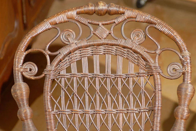 19th Century Small Wicker Rocker from England For Sale 3