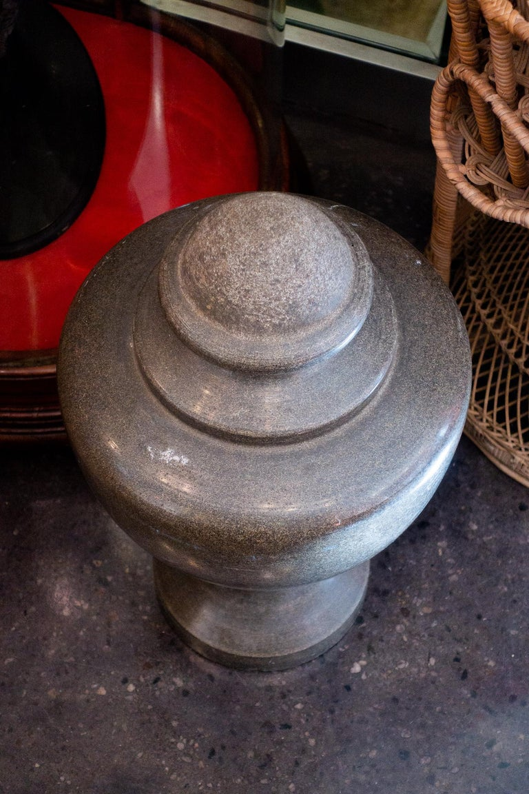 19th Century Solid Granite Stone Grand Tour Style Decorative Vase In Good Condition For Sale In New York, NY