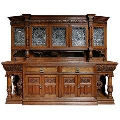 19th Century Solid Oak Sideboard by Christopher Pratt