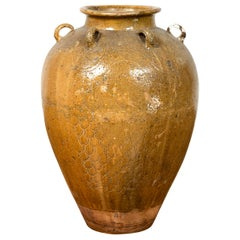 19th Century South-Eastern Martaban Water Jar with Dragon Motifs and Handles