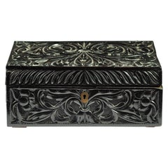 19th Century South Indian or Ceylonese Carved Ebony Workbox