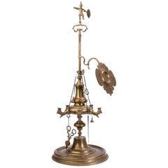 19th Century Spanish Arab or Islamic Style Oil Lamp