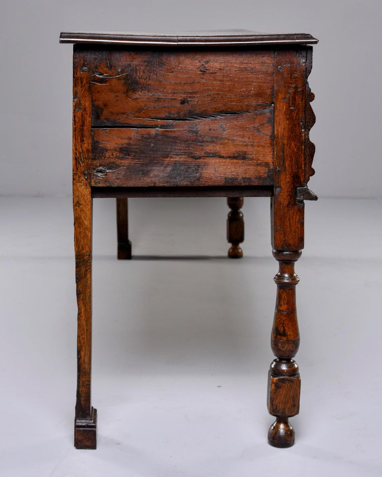 19th Century Spanish Baroque Walnut Table with Three Drawers For Sale 7