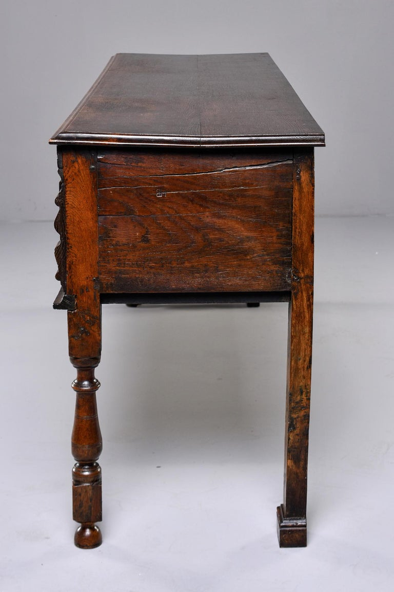 19th Century Spanish Baroque Walnut Table with Three Drawers For Sale 10