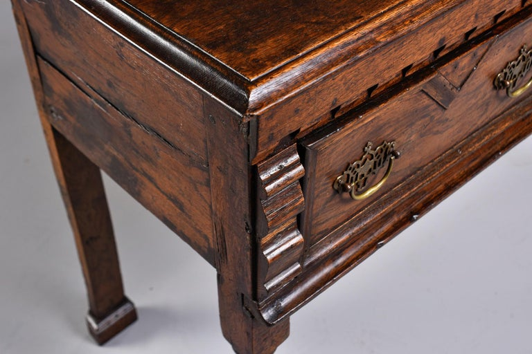 19th Century Spanish Baroque Walnut Table with Three Drawers For Sale 3
