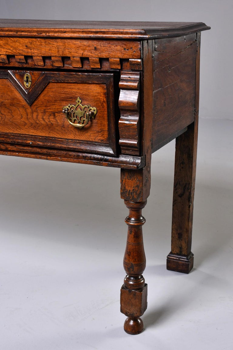 19th Century Spanish Baroque Walnut Table with Three Drawers For Sale 4
