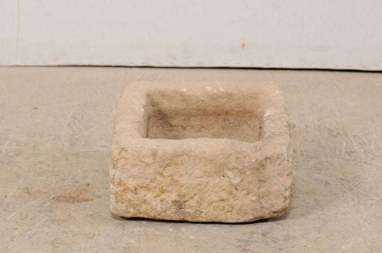 Hand-Carved 19th Century Spanish Carved Stone Trough For Sale