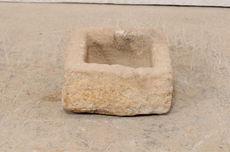 19th Century Spanish Carved Stone Trough For Sale 4