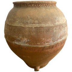 19th Century Spanish Earthenware Jar from Andalusia