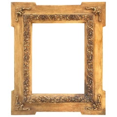 19th Century Spanish Frame of Carved and Gilded Wood