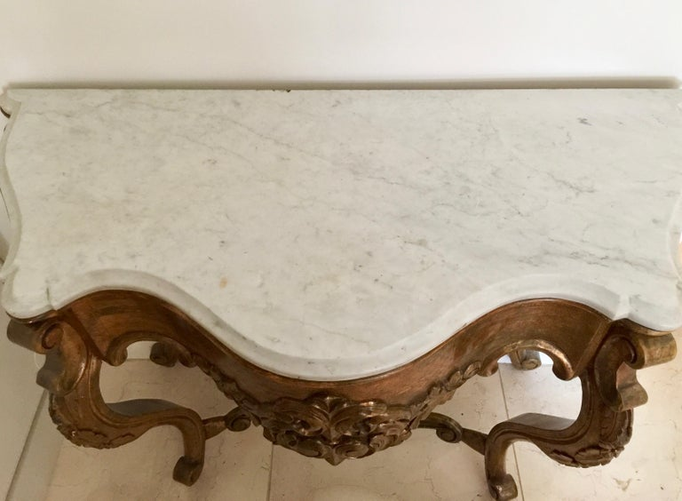 19th Century Spanish Giltwood Console For Sale 1
