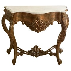 19th Century Spanish Giltwood Console