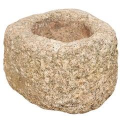 19th Century Spanish Hand Carved Stone Trough