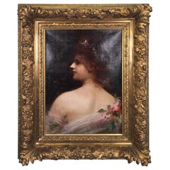 19th Century Spanish Oil on Canvas Painting Signed Riani