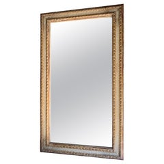 19th Century Spanish Original Painted Gilt Frame with Later Distressed Mirror