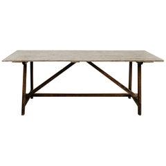 19th Century Spanish Pinewood Table