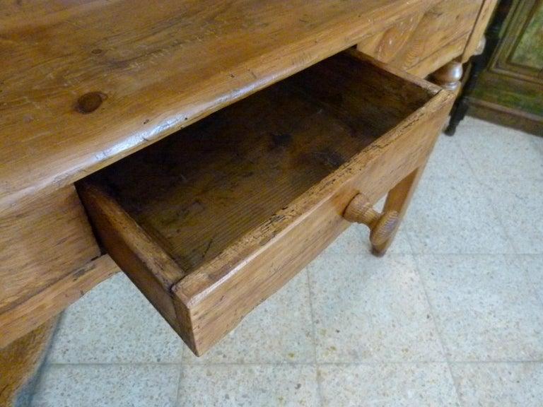 19th Century Spanish Rustic Secretarial Cabinet For Sale 4