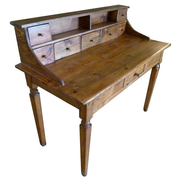 19th Century Spanish Rustic Secretarial Cabinet For Sale
