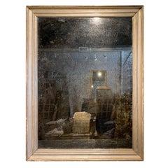 19th Century Spanish Silver Giltwood Frame, Mirror