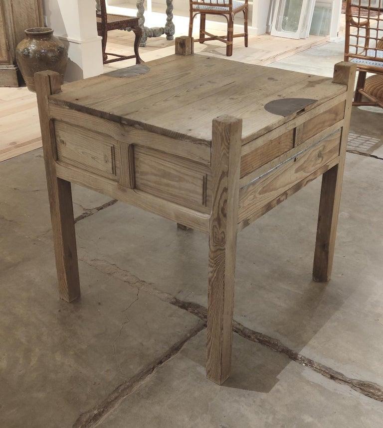 19th Century Spanish Three Drawer Jeweller's Wooden Workbench For Sale 1