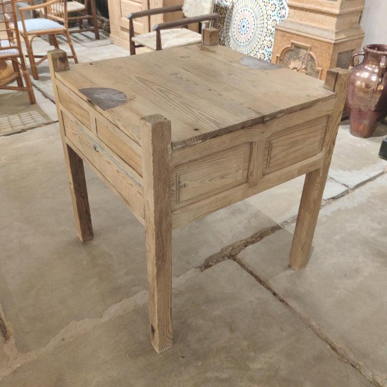 19th Century Spanish Three Drawer Jeweller's Wooden Workbench For Sale 4