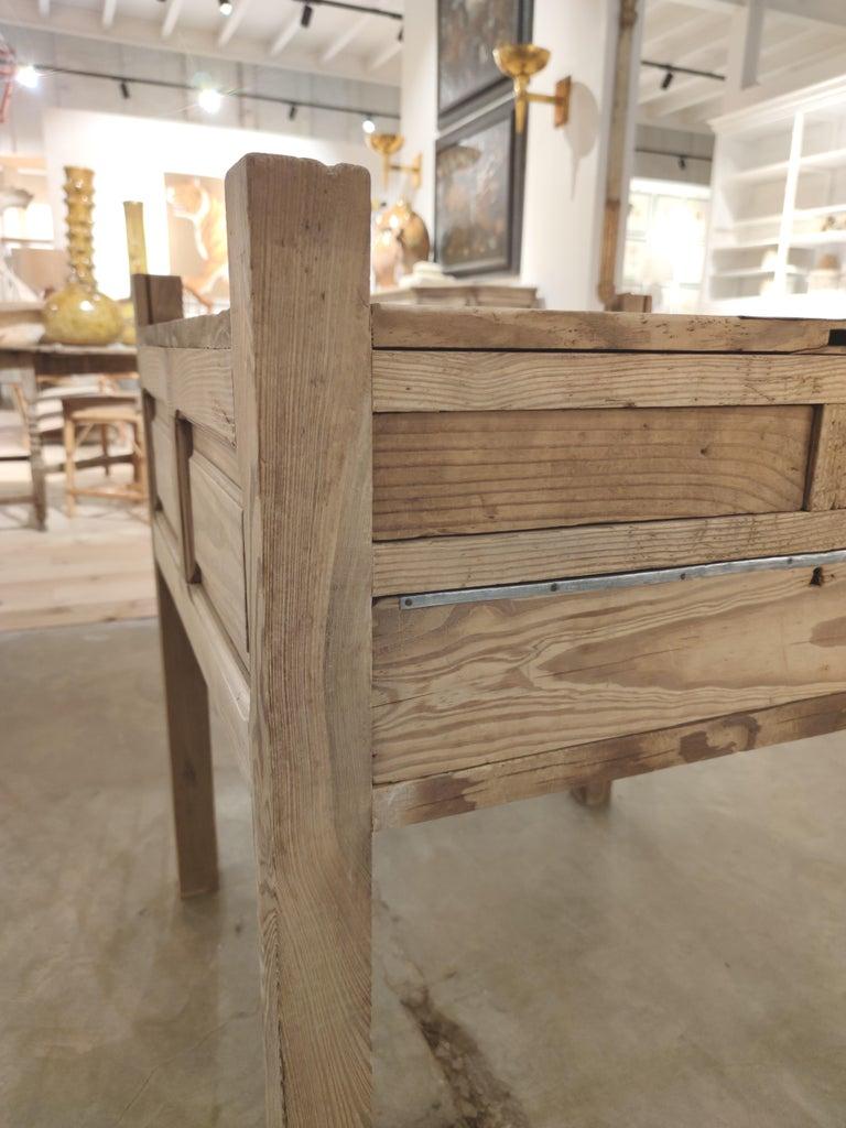 19th Century Spanish Three Drawer Jeweller's Wooden Workbench For Sale 6