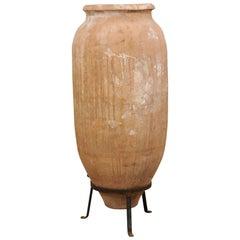 """19th Century Spanish Toledo Urn marked """"Padilla Villarrobledo"""" on Custom Stand"""