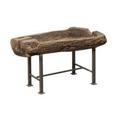 19th Century Spanish Wood Trough Coffee Table