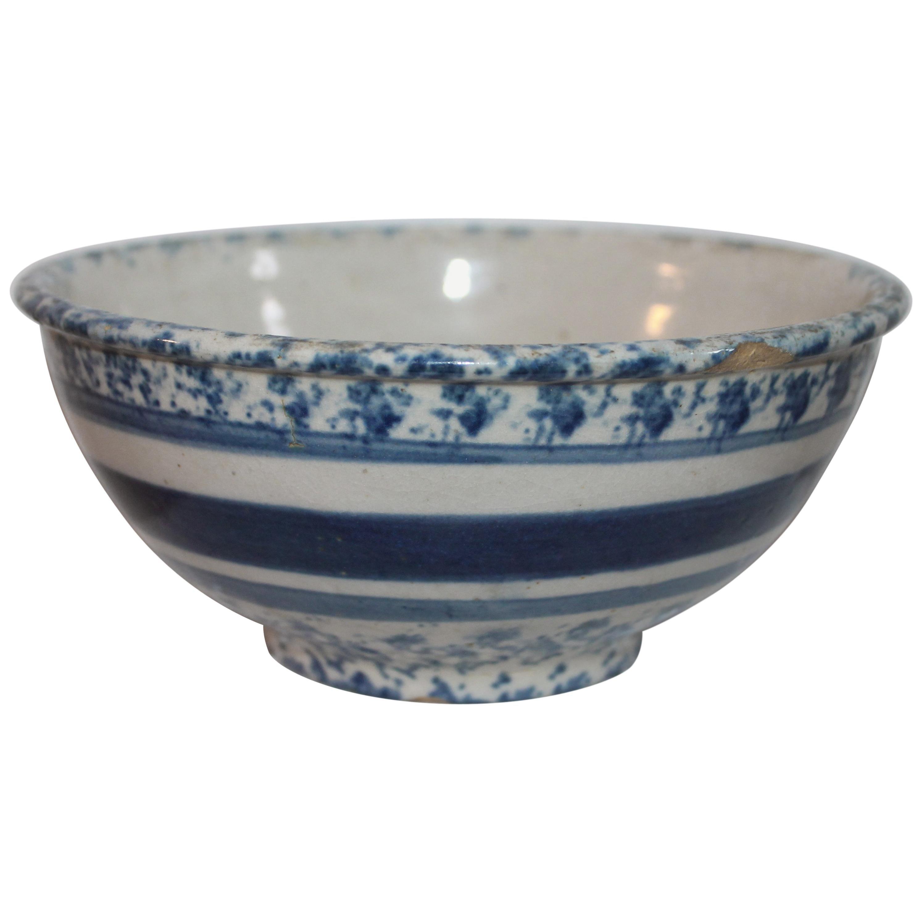19th Century Spong Ware Bowl