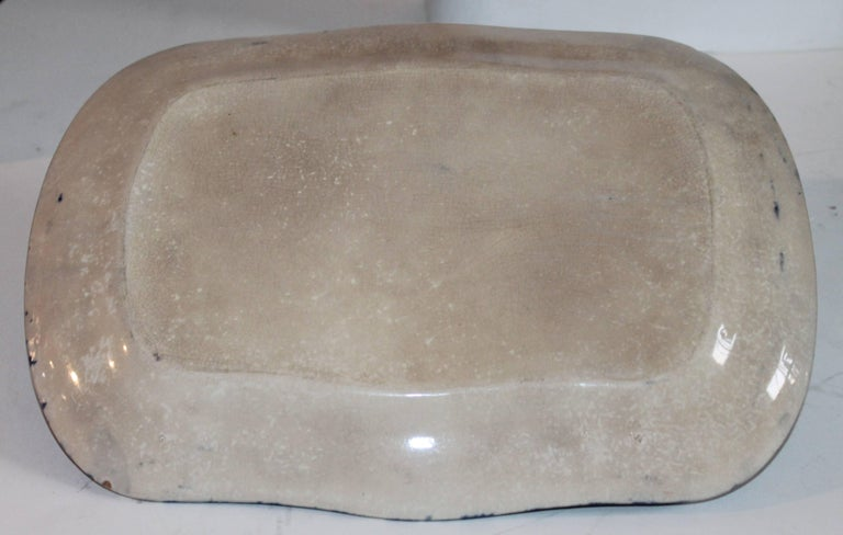 19th Century Sponge Ware Patterned Serving Platters For Sale 3