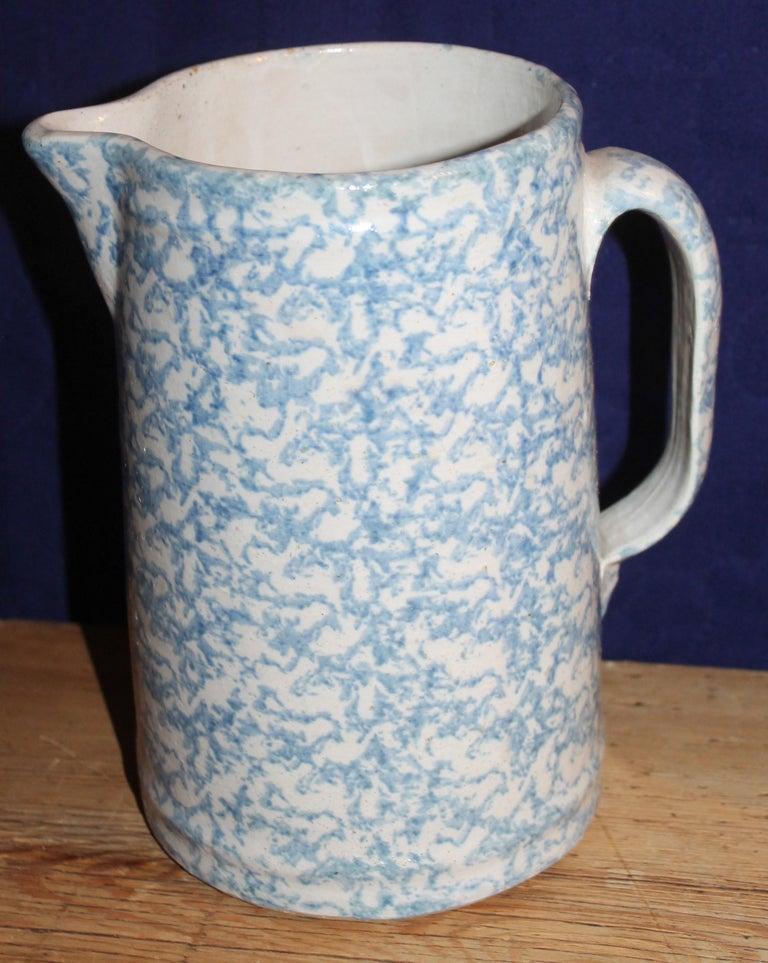 19th Century Sponge Ware Pitchers, Nine Pcs. Collection For Sale 4