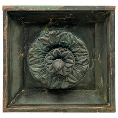 19th Century Square Green Copper Facade Beaux Arts Floral Design