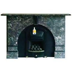 19th Century St Annes Marble Arched Fireplace Surround